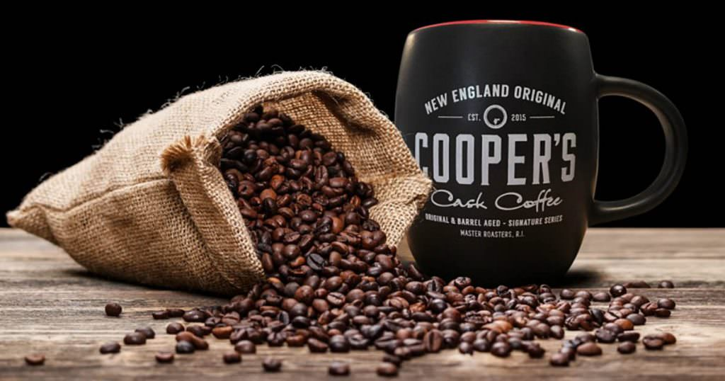 Coopers coffee comes in whiskey, bourbon and rum flavors
