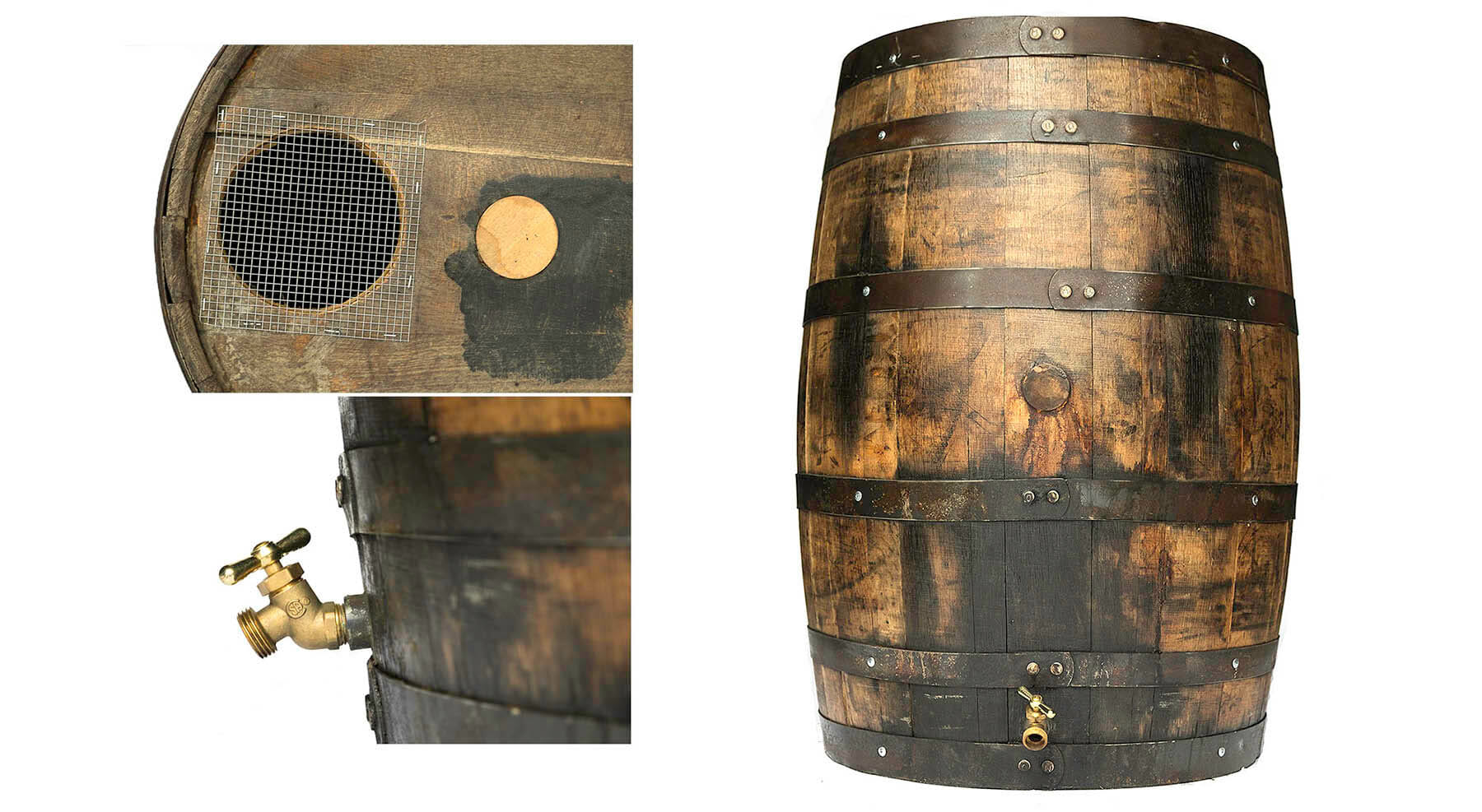 whiskey rain barrels