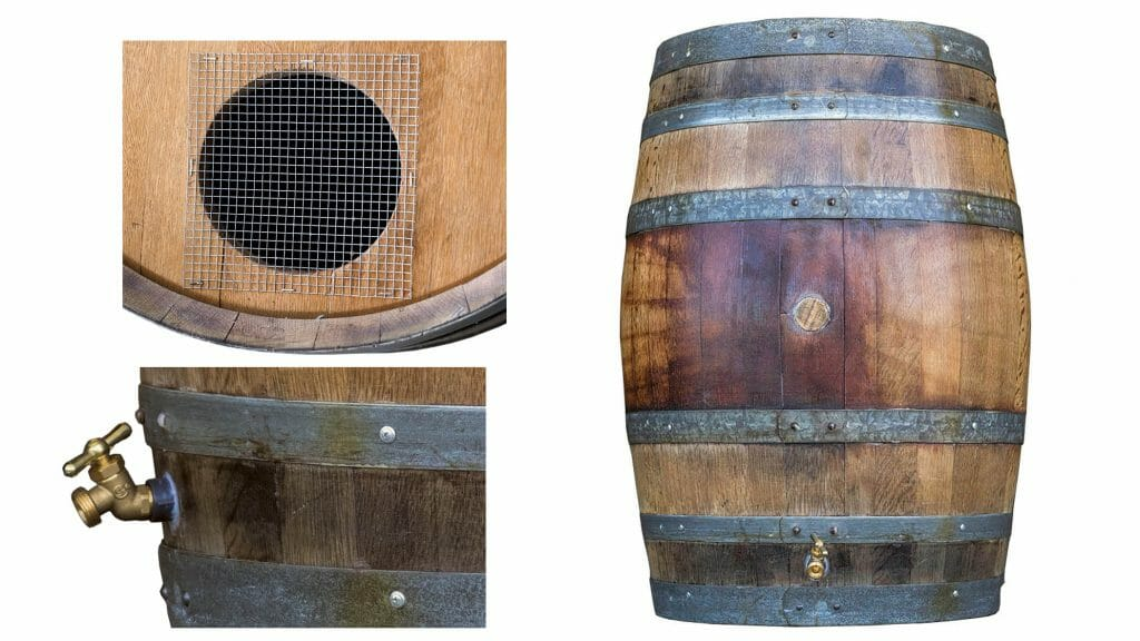 Every wine barrel planter is unique and durable.