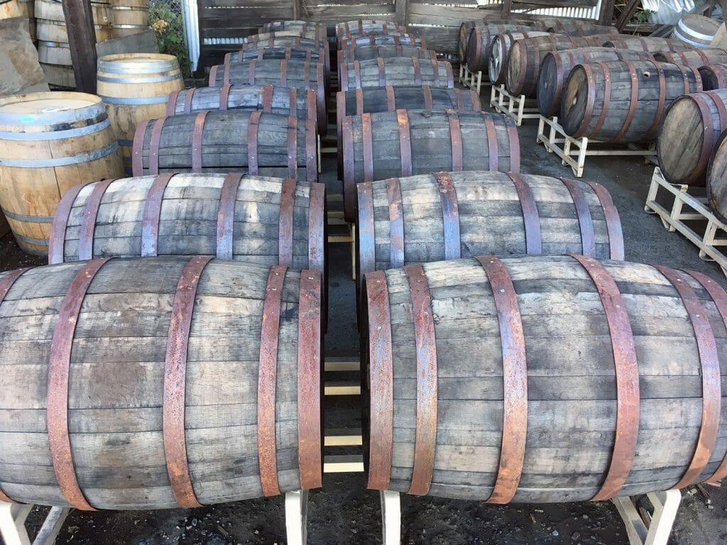 Wine and whiskey barrels for furniture