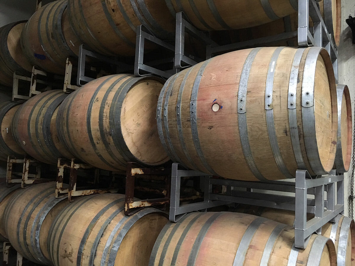 Puncheon Barrels on Racks